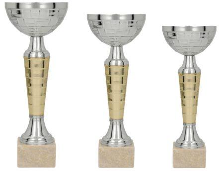 Pokali v zlato srebrni kombinaciji