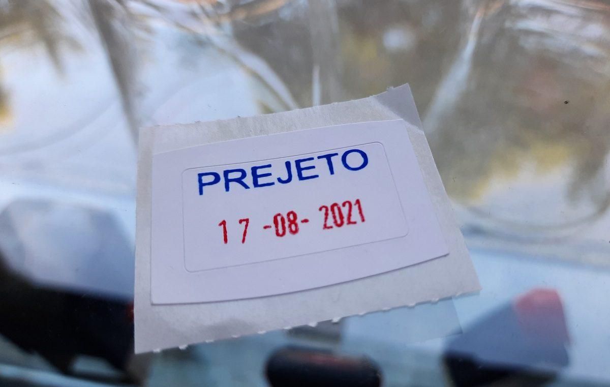 štampiljka Prejeto z datumom