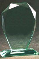Steklena plaketa, višina 24 cm