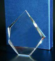 Steklena plaketa s šatuljo